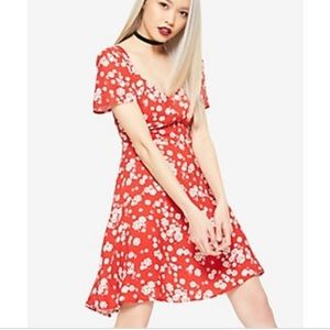 Dance & Marvel retro red floral daisy dress -Small